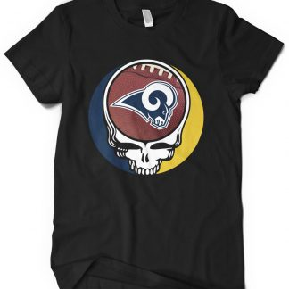 Los Angeles Rams Grateful Dead Custom Printed T-Shirt