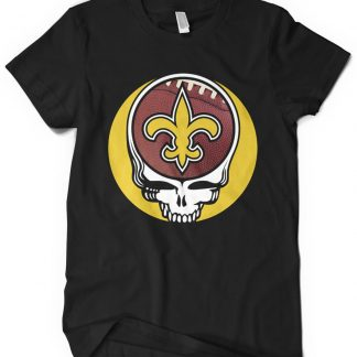 New Orleans Saints Grateful Dead Custom Printed T-Shirt