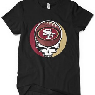 San Francisco 49ers Grateful Dead Custom Printed T-Shirt