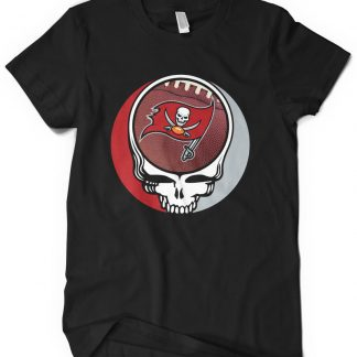 Tampa Bay Buccaneers Grateful Dead Custom Printed T-Shirt