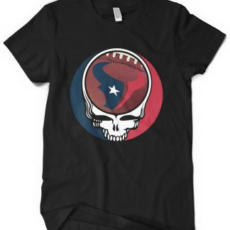 Houston Texans Grateful Dead Custom Printed T-Shirt