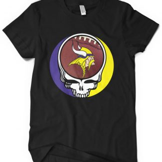 Minnesota Vikings Grateful Dead Custom Printed T-Shirt