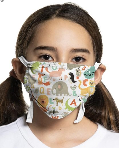 Children's face mask with animal designs