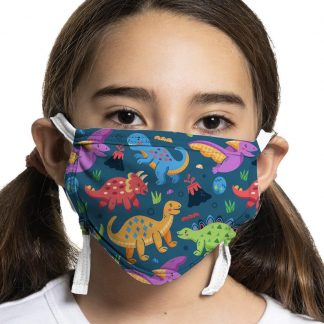 Dinosaur designed kids protective face mask