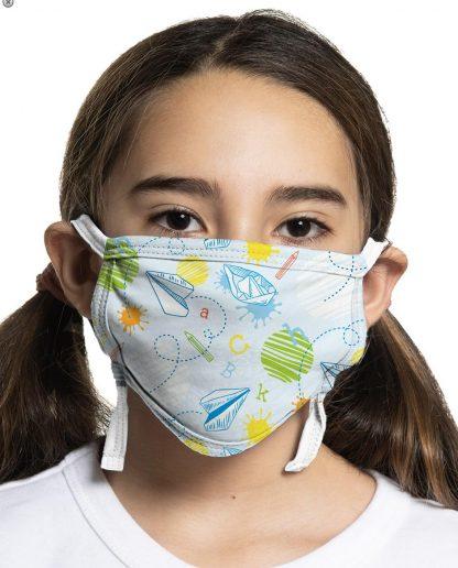 Children's paper plane designed custom protective face mask
