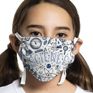 Children's protective face mask with science design
