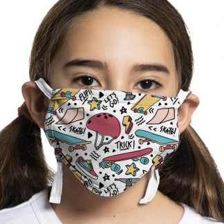 Kids protective face mask witrh dinosaur design