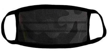 Black camo protective face mask