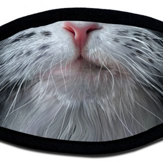 Protective face mask with cat design