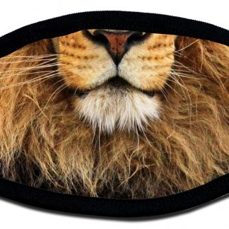 Lion designed custom face mask