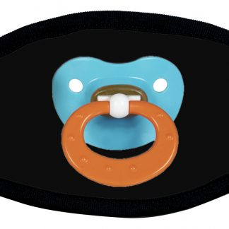 Protective face mask with pacifier design