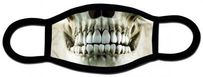 Skeleton designed custom face mask