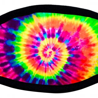 Tie dye spiral designed protective face mask